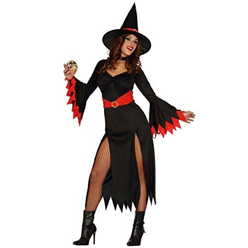 Amakando Kostüm Magierin Sexy Hexenkostüm Damen M 38/40 Hexenkleid Frauen Faschingskostüm Zauberin Halloween Kleid Outfit Damen Damenkostüm Hexe