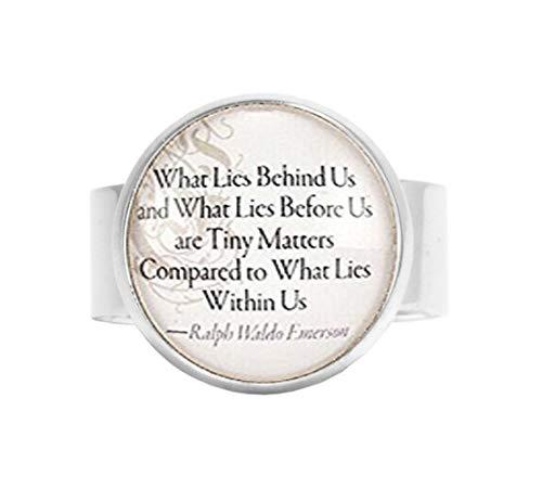 qws Ralph Waldo Emerson Ring mit inspirierendem Zitat, verstellbar -