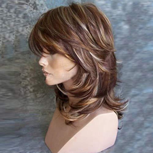 Starke schönheit weibliche perücken natürliche synthetische Kurze körperwelle Blonde braune perücke Haar für europäische amerikanische Frauen fghfhfgjdfj - Weibliche Natürliche