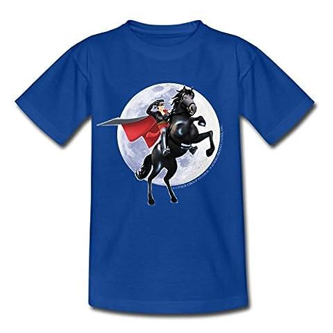 Zorro Les Chroniques Sur Cheval Tornado T-shirt Enfant de Spreadshirt®, 98/104 (3-4 ans), bleu royal
