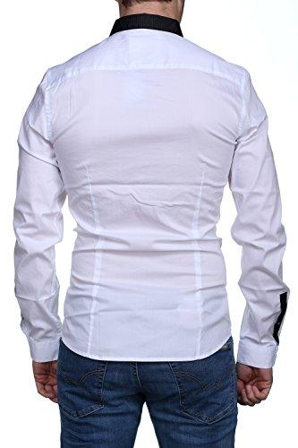 Guess Chemise Ls Tape Stretch Poplin Blanc Blanc