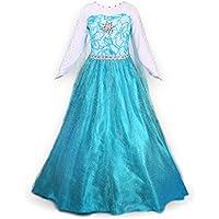 ReliBeauty Ragazze Vestito Bambine principessa Elsa Costume Abito - Abito Di Natale