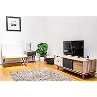 Timber Art Design UK Alford Scandinavian TV Unit Stand 120cm Media Cabinet + Drawers Oak Grey
