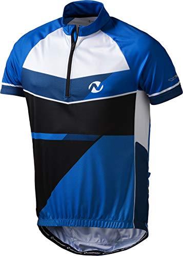 Nakamura Herren Radsport Kurzarm Radtrikot Fahrradtrikot Dolonne blau weiß, Größe:M -
