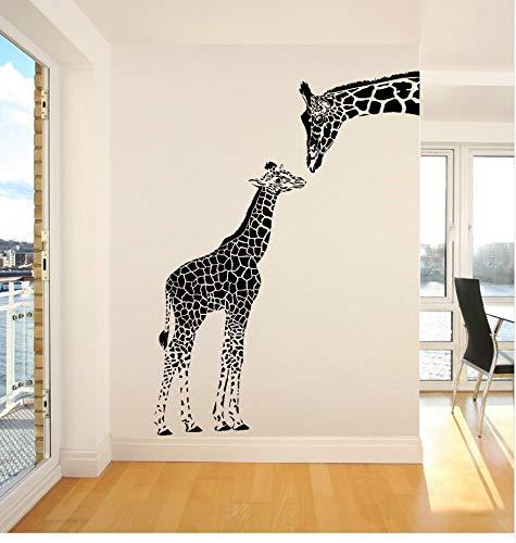 nd Baby Giraffe Wandaufkleber Steuern Dekor Wohnzimmer Kunst Wandtattoo Vinyl Abnehmbare Aufkleber Tier Thema Tapeten56 * 76 cm ()