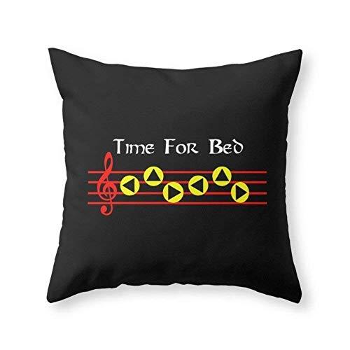 """ncnhdnh Time Bed - Zeldas Lullaby (The Legend Zelda: Ocarina Time) Throw Pillow Pillow caseCover Pillow case 18"""" x 18"""" in"""