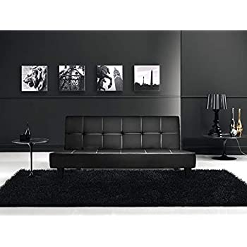 Gstore Divano Letto Moderno - Design - 3 POSTI Sofa\' - Divano Letto  RECLINABILE in Ecopelle - Stile Moderno