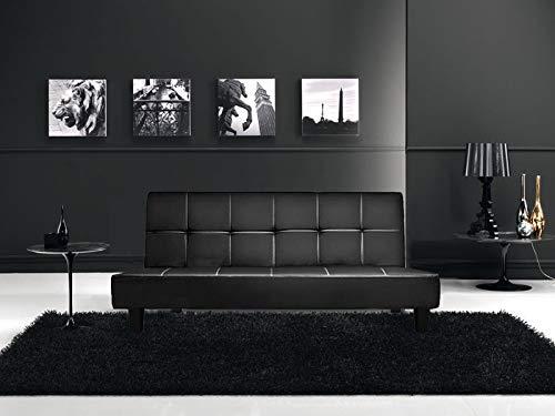 Gstore divano letto moderno 3 posti reclinabile in ecopelle js-8672