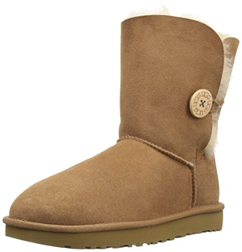 Ugg Damen Bailey Button II Che Schneestiefel, Beige (Chestnut), 41 EU (Button-stiefeletten)