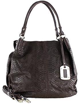 Damen Tasche Handtasche aus Leder mit Schultergurt in braun
