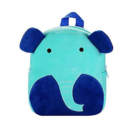 Wicemoon. Mochila Infantil Jardín de Infancia para niña y niño 1-4 años Elefante de Dibujos Animados - Azul