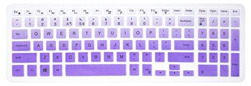 Elastische Silikon Tastatur Cover Skin für 39,6cm Dell Inspiron 153000& 5000Serie, 43,9cm Dell Inspiron 175000Serie, Inspiron 15i3541i5566, Inspiron 17i5749Series Laptop Purple Ombre