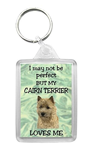 Something Special Gift Shop Schlüsselanhänger Cairn Terrier I May Not Be Perfect But My Cairn Terrier Loves Me, lustige Geschenkidee, Design Nr. 1