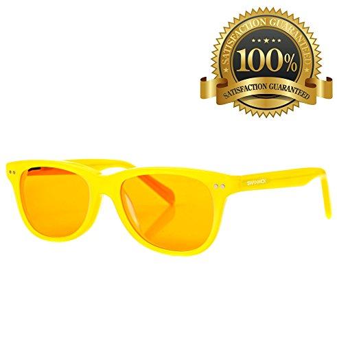 Cooler Leser (Swanwick Sleep UK - Blaues Licht blockierende Brille für erholsamen Schlaf – Computerspiele und Gamer Brille und Computer Brille für tiefen Schlaf und Verhinderung von Digitalem Augenstress - Für Kinder)