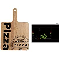 Pizza Platos 35 cm Plato de madera  (Cocina giratorio Tabla de cortar BARTU 67da5c68ccdd