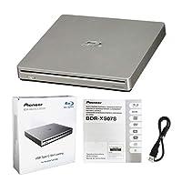بايونير BDR-XS07S جهاز حرق خارجي بلوراي محمول 6X مع كابل يو اس بي - يحرق أقراص CD DVD BD DL BDXL