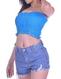 Azul Amazon Ropa Camisetas Mujer Cielo Tops es Y L Blusas qEzfUqwr