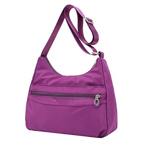 Yy.f Handtaschen Neue Tasche Oxford Beutel Diagonales Paket Leichte Wasserdichte Nylon Leinwand Schulter Umhängetasche Mehrfarbige Beutel Red