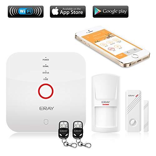 ERAY WS1N Alarmas para Casa WiFi, Sistema de Alarma, Antirrobo, Inalámbrico, App Gratuita en Castellano, Servicio + Garantía, Multi-Accesorios y Pilas Incluidas, 433MHz
