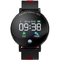 Directtyteam Fitness Armband Farbbildschirm Blutdruck Wasserdicht Unisex Digitaluhren Armbanduhr Bluetooth AktivitäTstracker Herzfrequenz Fitness Tracker KalorienzäHler (Rot)