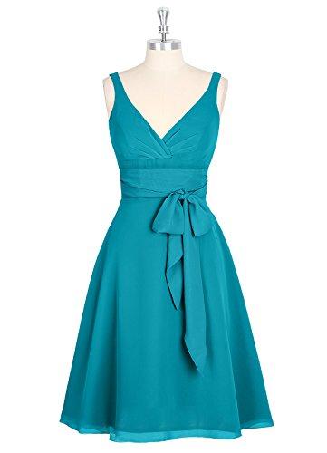 Dresstells Brautjungfer Kleider Damen Homecoming Kleider Abendkleider Grau