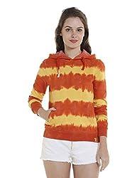 Campus Sutra Womens Plain Sweatshirt (AZW17_HSPR_W_PLN_ORYE_AZ_M)