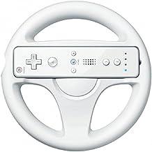 Volante para Wii Presentado en Caja, Color Blanco, compatible con el juego de Mario Kart