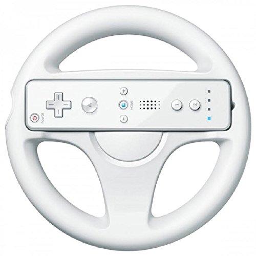 Electrónica Rey Volante para Wii Presentado en Caja, Color Blanco, Compatible con el Juego de Mario Kart