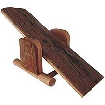 emours madera natural hámster jaula de balancín pequeños Aniaml para jugar juguete para ratones ratas y otros pequeños roedores