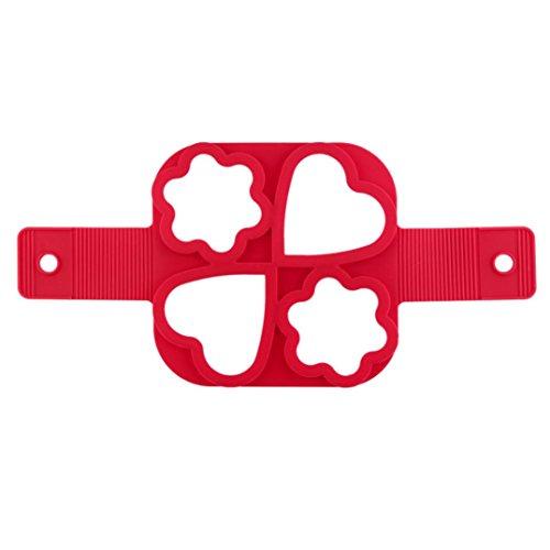 TWIFER Nonstick Silikon Ei Ring Pfannkuchen Form,Kyerivs Fantastic Fast&Einfache Möglichkeit Perfekte Pancakes