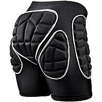 SKL Pantalones Cortos Acolchados, Hip Pad Protector para Esquí, Patinaje, Snowboard y otros deportes (M)