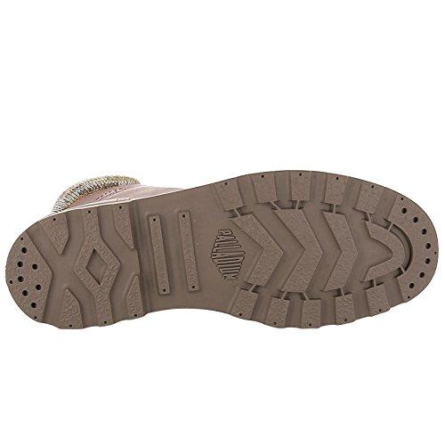 Palladium Pampa Knit Lp F, Sneaker a Collo Alto Donna Braun (Sunrise-Carafe)