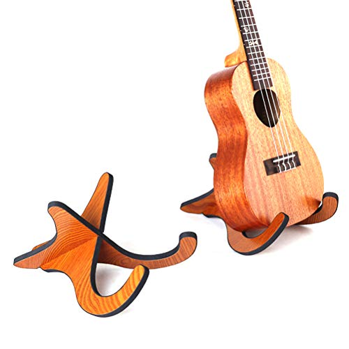 Ourine Portable Guitar Stand Detachable Guitar Holder Folding Wooden Unique X Frame Shape Stand For Ukulele/Violin/Viola �23*19 * 1cm�