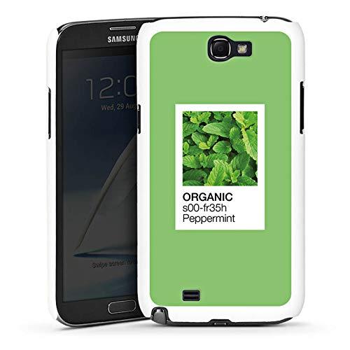 DeinDesign Hülle kompatibel mit Samsung Galaxy Note 2 Handyhülle Case Mint Pfefferminz Farbe - Pfefferminz-noten