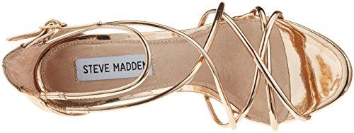 Steve Madden Satire, Sandales Bout Ouvert Femme Or (Rose Gold)