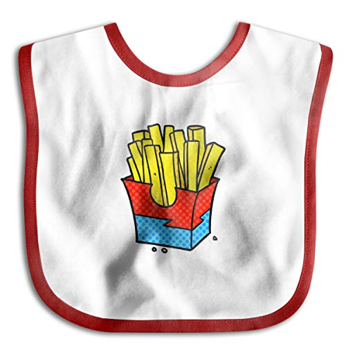 Baby Bibs A Cartoon Junk Food Fries Isolated On White Soft And Absorbent For Boys Girls Baby Bandana Drool Bibs Vintage Hard Rubber