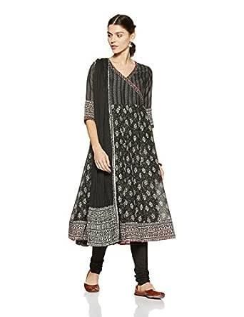 BIBA Women's Anarkali Salwar Suit Set