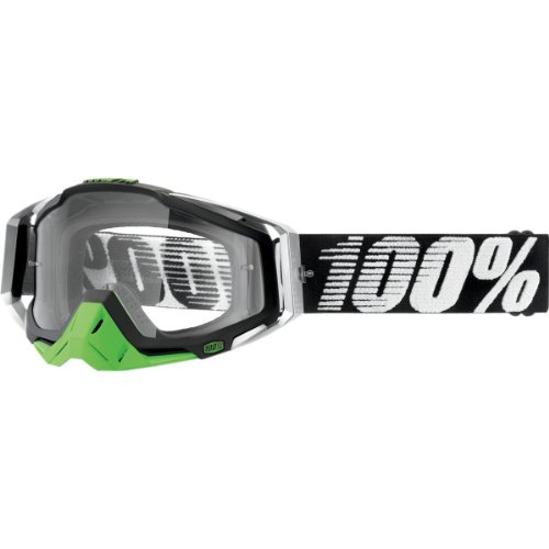 Unbekannt 100% Racecraft Unisex Mountainbike-Brille, Racecraft, Herren, Metal Chrome/Lime, M