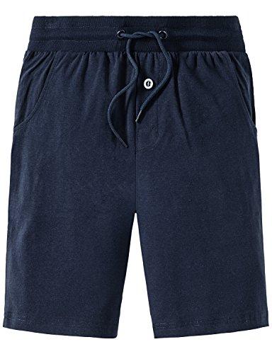 Schiesser Jungen Mix & Relax Longboxer Schlafanzughose, Blau (Nachtblau 804), 152 (Herstellergröße: S) - Herrliche Gerippte Jersey