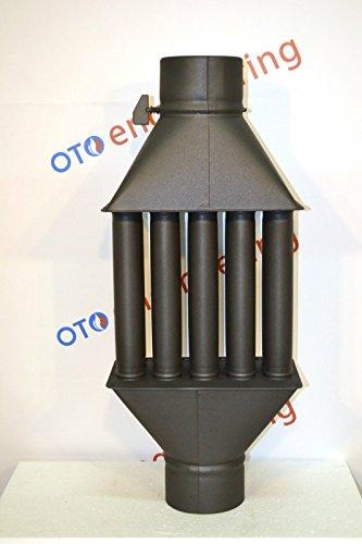 Abgasrohr Kamin Hölzerner brennender Herd Kühler Wärmeaustauscher mit ventil (5 Tubes)