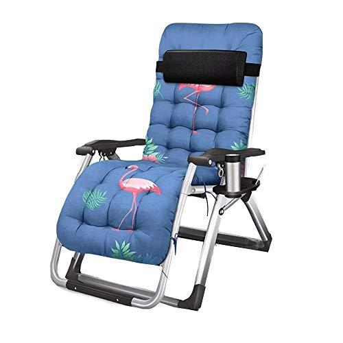 LAZ Klappstuhl Schwerelosigkeit Lehnstühle Patio Lounge Camping Stuhl Büro Mittagspause Stuhl Bett Übergröße Einstellbare Unterstützung £ (Color : C)