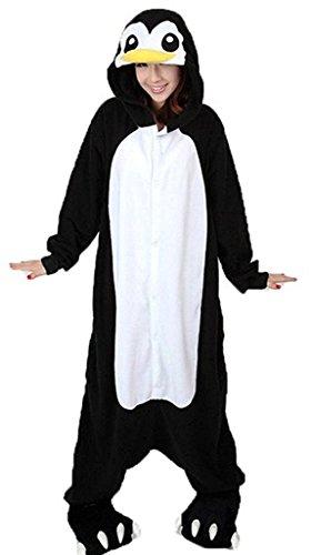 Imagen de abyed kigurumi pijamas unisexo adulto traje disfraz adulto animal pyjamas,pingüinos negro adulto talla xl para altura 175 183cm alternativa