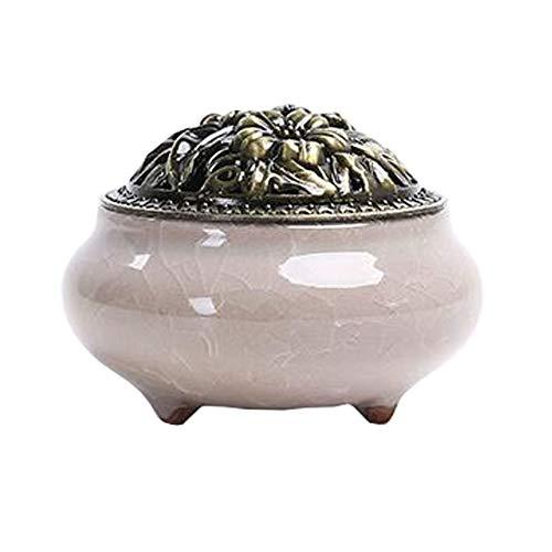 Chinashow - Quemador de Incienso de cerámica, Soporte para Conos, Quemador de Porcelana,...
