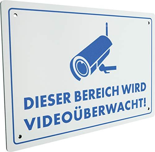 SCHWAIGER -5590- Warnschild fürs Haus/Einbruchschutz / witterungsbeständig/Videoüberwachung