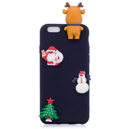 Cover iPhone 6s plus Custodia iPhone 6 plus Silicone Anfire Morbido Flessibile Gel TPU Case per iPhone 6 plus / 6s plus (5.5 Pollici) Ultra Sottile Antiurto Cartoon Protettivo Bumper Shell Ultra Legge Nero Orso