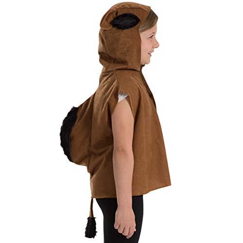 Kostüm Kamel - Unbekannt Charlie Crow Kamel Kostüm für Kinder - Einheitsgröße 3-8 Jahre.