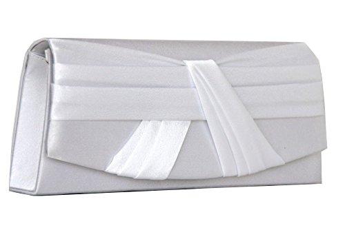 Clutch / Abendtasche Satin Weiß