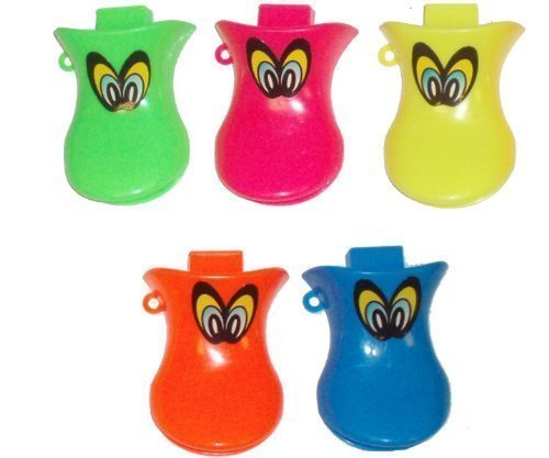 The Little Party Shop 20 x Duck Quackers Whistle Childrens Party Loot Bag Filler Toys by The Little Party Shop