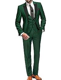 GEORGE BRIDE 002 - Traje de 5 Piezas para Hombre, Chaqueta de Traje, Chaleco, pantalón de Traje, Corbata,…