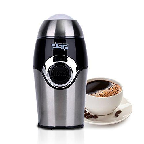 Elektrische Kaffeemühle mit Schlagmesser aus Edelstahl (200 W, 50g Füllmenge, auch für Gewürze) Coffee Grinder